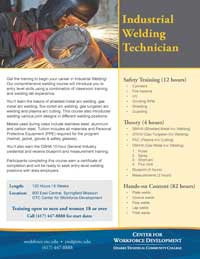 Welding Course Flyer