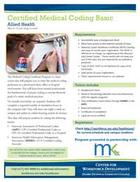Medical Coding flyer thumbnail image