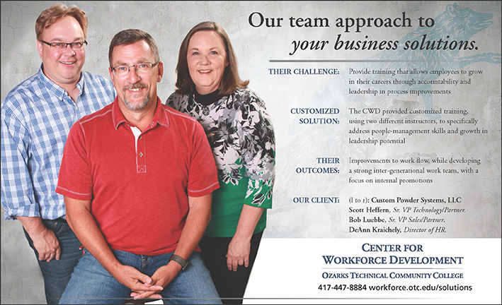 center for workforce development testimonials custom powder systems