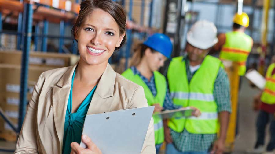 Training director in warehouse