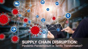 Supply Chain icons & covid virus