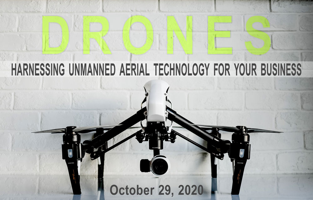 Drone w promo text & date
